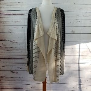ONE A Asymmetrical open front Cardigan